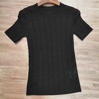 d90cfa5700 2019 New Fashion Brand Blouse Women Summer Blouse Black White Blouse Top  Short Sleeve Hollow Out. US  188.00 US  139.12. 2019 Nova Marca de Moda  Blusa ...