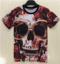 [Joslyn] Neue mode kreative schädel snakeskin/rose 3 D druck männer t-shirt kurzarmhemd Einzelhandel und sendung