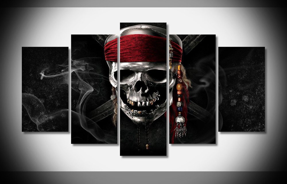 2678 pirates of the caribbean movie Poster Framed Gallery wrap art print home wall decor wall picture Already to hang digital