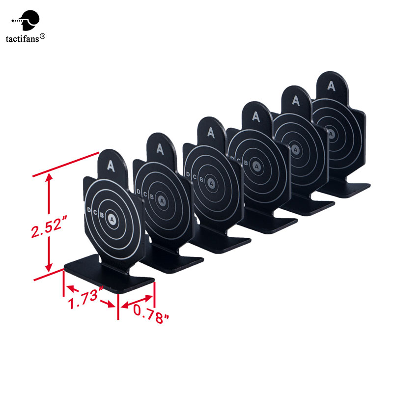 Tactifans Outdoor Metal Black Shooting Target (6pcs) Set Durable Archery Kit Target Painball Accessory For Hunting Shooting