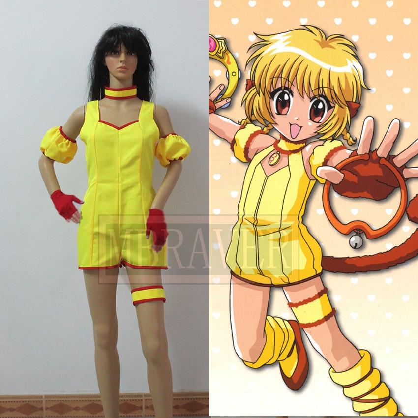 Tokyo Mew Mew Pudding Cosplay Costume Halloween Clothing Anime woman dress