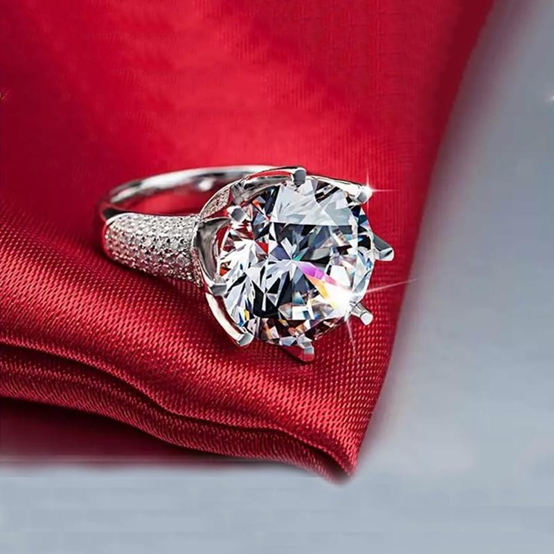 Big Stone 8 karat glans kristallringar för kvinnor Vintage - Märkessmycken - Foto 5