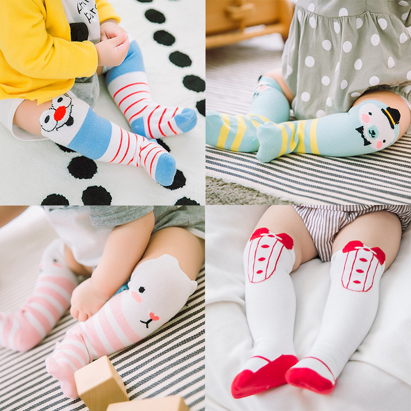 0 3Y Baby Socks Cotton Three Dimensional Eyes In The Tube Baby Socks Children Socks Cute Cartoon Striped Baby Socks Wholesale in Socks from Mother Kids