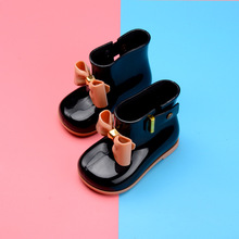 Melissa 4 Color Candy Color Rain Boots Girls Water Shoes 2019 New Toddler Rain Boots Melissa Jelly Waterproof13.5-18.5cm