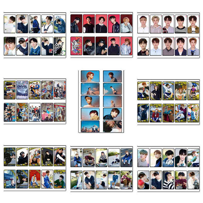 10pcs set KPOP Stray Kids Lomo Cards HD Photo Cards Sticky Photocard Poster Gift For Star