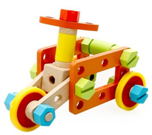 купить New wooden toy Wood Variety blocks Multifunctional nut wooden blocks baby educational toy baby toy Free shipping дешево