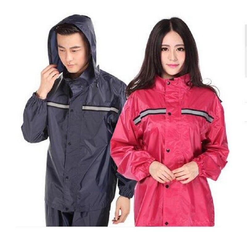 Impermeable Raincoat Women Rainwear 2019 Fashion Hooded Rain Coat Motorcycle/Electrombile Bicycle Men Raincoat Rain Pants Suit