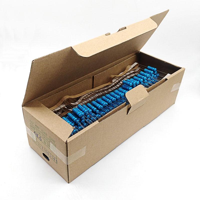 500pcs 3W 1% Metal Film Resistors 0.22 0.3 0.47 0.5 1 1.5 10 47 100 220 330 1K 10K 100K 470K Ohm 10Kohm Electronic Components