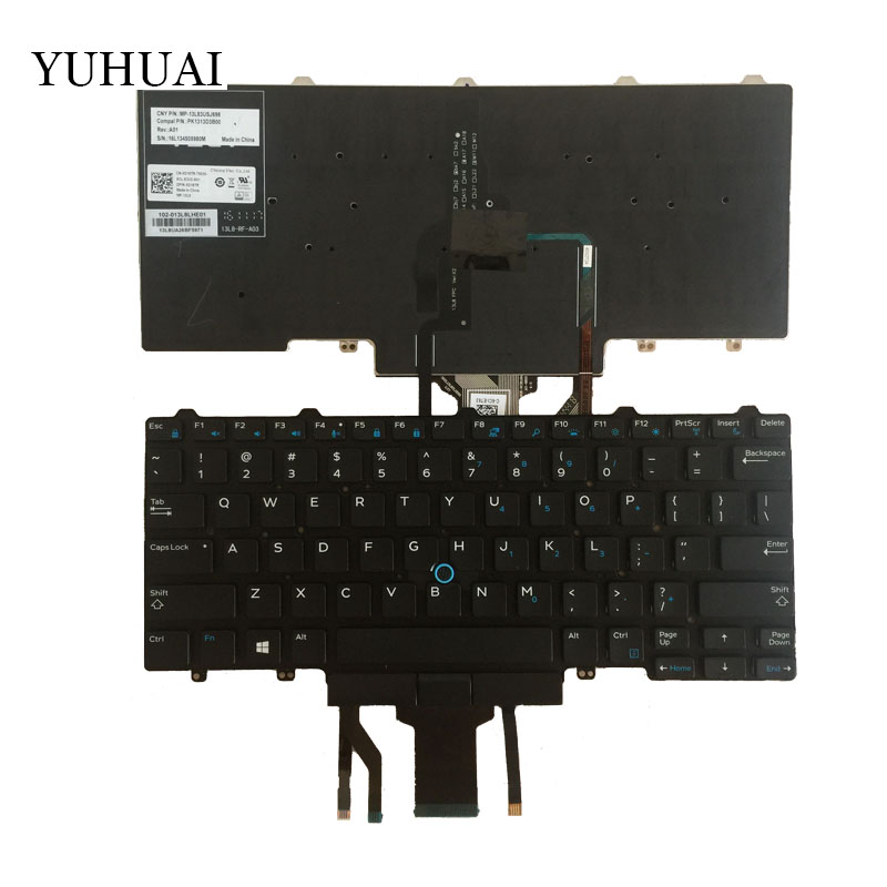 New US laptop keyboard for DELL Latitude E7250 E5450 E7470 7250 E7450 English layout backlit keyboar цена