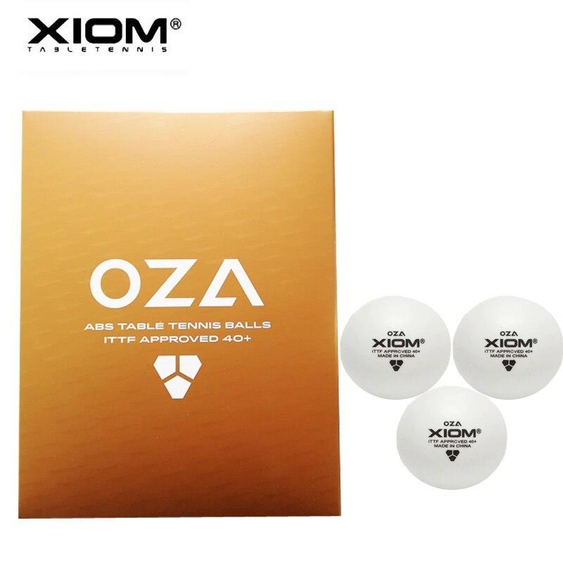 12 balles/24 balles/72 balles balles de tennis de Table XIOM OZA 3 étoiles ABS 40 + plastique avec couture ping pong poly tenis de mesa