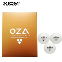 12balls/24balls/72balls Table tennis balls XIOM OZA 3 Star ABS 40+ plastic with seam ping pong poly tenis de mesa xiom original hinoki s7 cypress racket table tennis blade ping pong bat tenis de mesa