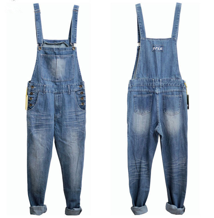 e672c2a26f2 New Brand Mens Black Denim Overalls Men Denim Pants Suspenders Jeans Black  Male Denim Jumpsuit Salopette