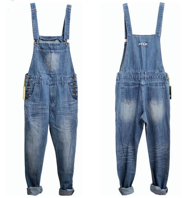 522d5af131d9 3XL 4XL 5XL Plus Size Mens Denim Blue Overalls Fashion Loose Jeans One Piece  Jumpsuit For Men Suspender Pants Big Size Clothing