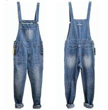 3XL 4XL 5XL Plus Size Mens Denim Blue Overalls Fashion Loose Jeans One Piece Jumpsuit For Men Suspender Pants Big Size Clothing