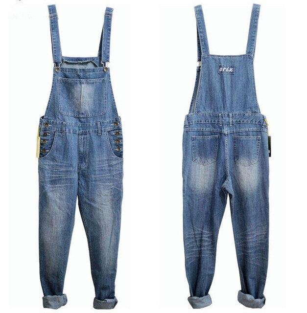 design intemporel 5ce33 09760 € 47.92 10% de réduction|3XL 4XL 5XL grande taille hommes Denim bleu  salopette mode Jeans lâche une pièce combinaison pour hommes jarretelles  pantalon ...