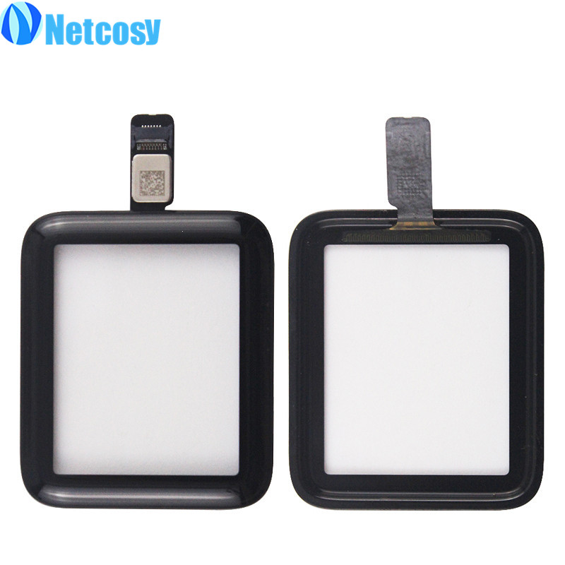 Netcosy Touch screen digitizer glass panel replacement parts For Apple Watch series 2 38mm 42mm Touch panel High quality коробка для мушек snowbee easy vue waterproof fly box small