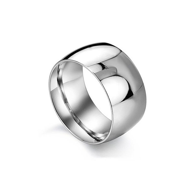 Fashion Punk Wedding Rings For Women Jewelry Silver Stainless Steel Ring Men Width S