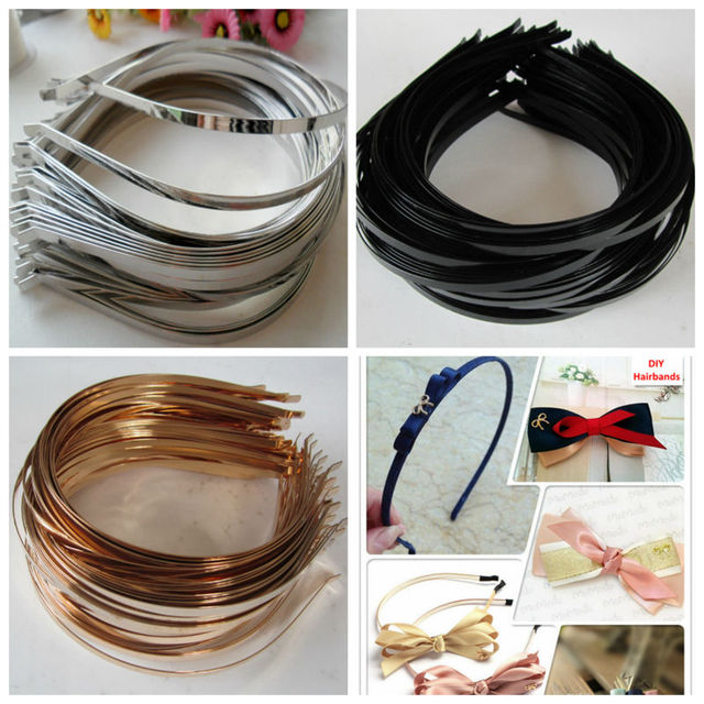 Wholesale 5mm 7mm 10mm Blank Plain Metal Hairband Decorative Metal Headband for Girls Hair Band DIY Craft Hair Hoop 50pcs/lot