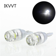 Фотография 1PC T10 1W TJ COB W5W 168  Car style Interior LED Wedge Door Instrument Side Bulb Lamp Car Light White/ Source  Show Wide Lights