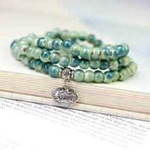 Милые керамические бусы в китайском стиле многослойные браслеты