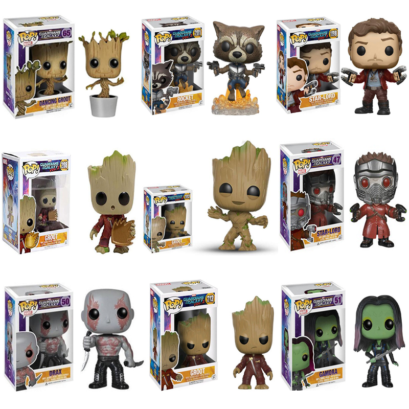 Funko POP Marvel gardiens de la galaxie sans titre Avengers Film Star Lord Groot cadeau danniversaire pour les enfantsFunko POP Marvel gardiens de la galaxie sans titre Avengers Film Star Lord Groot cadeau danniversaire pour les enfants