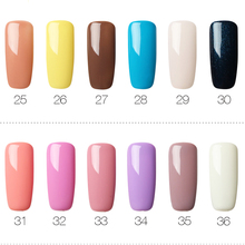 ROSALIND 7ml Gel Varnishes Hybrid Nails Art Semi Permanent LED UV Gel Nail Polish Set For Manicure Nail Extension Top Base Coat