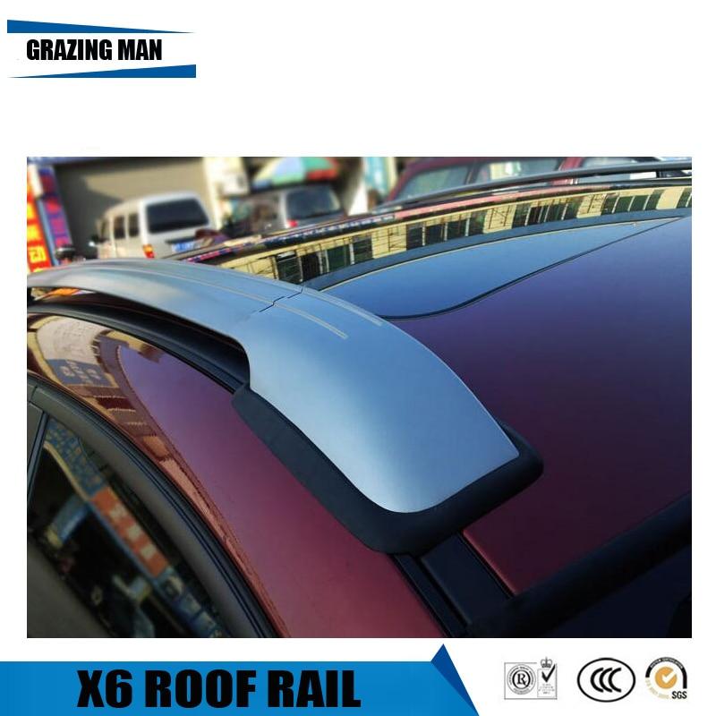 BMW X6 Roof Racks Cross Bars Carrier Rails Roof Bar Black 2008-2014