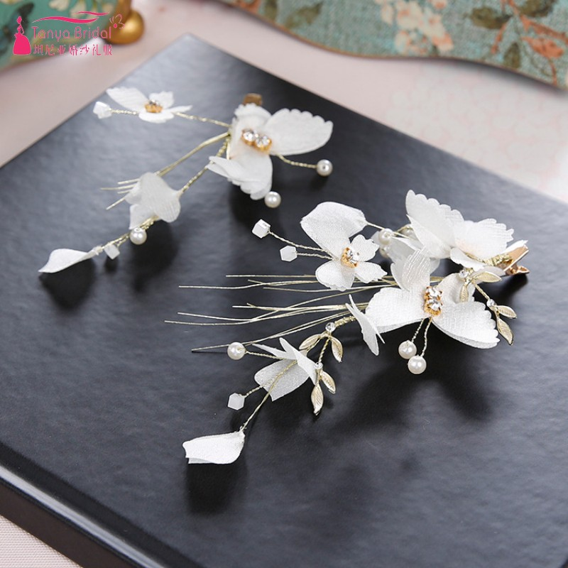 Smart Butterfly hair clip Bride bridesmaid Juan silk fairy headwear Wedding dress hair accessories wedding jewelry DQG341