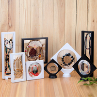20pcs Wholesale Floating Picture Frame Shadow Box Jewelry Display Stand Holder Protect Jewellery Stone Presentation Case