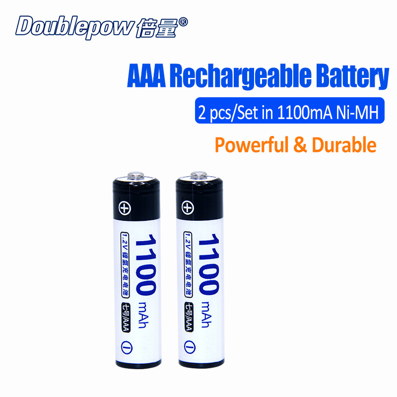 2pcs/Lot DP-AAA1100mA Doublepow 1.2V AAA Ni-MH rechargeable battery in Actual High Capacity of 1100mA Battery Cell FREE SHIPPING 16 pcs aa aaa rechargeable batteries ni mh aa1 2v neutral rechargeable battery free shipping