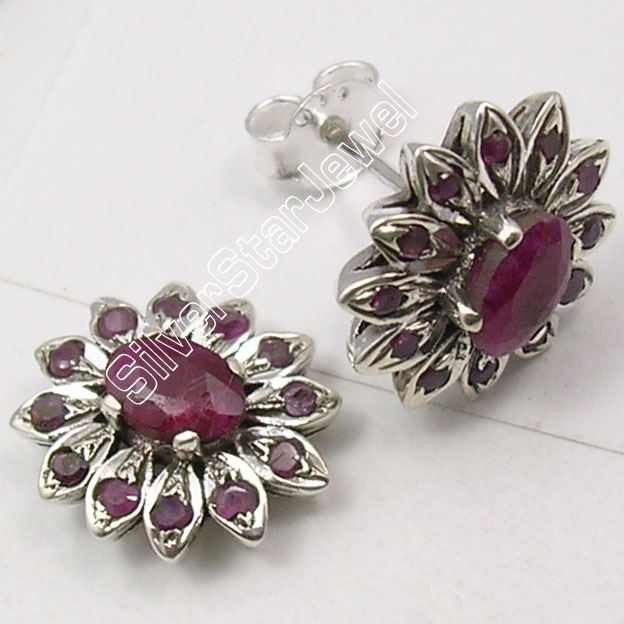 earring natural gemstone multi item earrings x