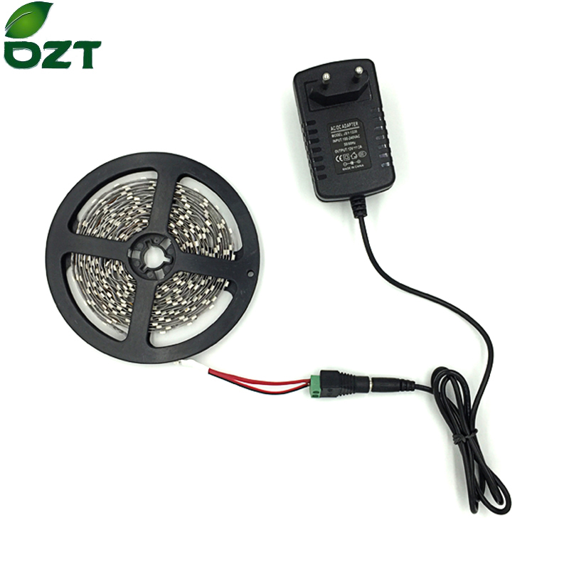 LED Strip SMD 3528 5M 300Leds Med 12V 2A Power Adapter Fleksibel Lys Hvid Varm Hvid Led Tape Home Decoration Lamper