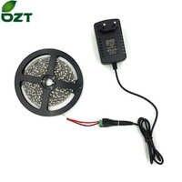 Tira conduzida smd 3528 5 m 300 leds com adaptador de energia 12 v 2a luz flexível branco quente fita led lâmpadas decoração para casa