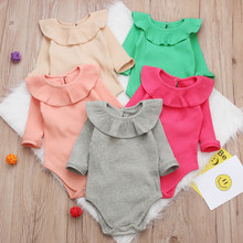Winter Baby Girl Rompers Autumn Princess Newborn Baby Clothes For Girls Boys Long Sleeve Jumpsuit Kids Baby Outfits Clothes(China)