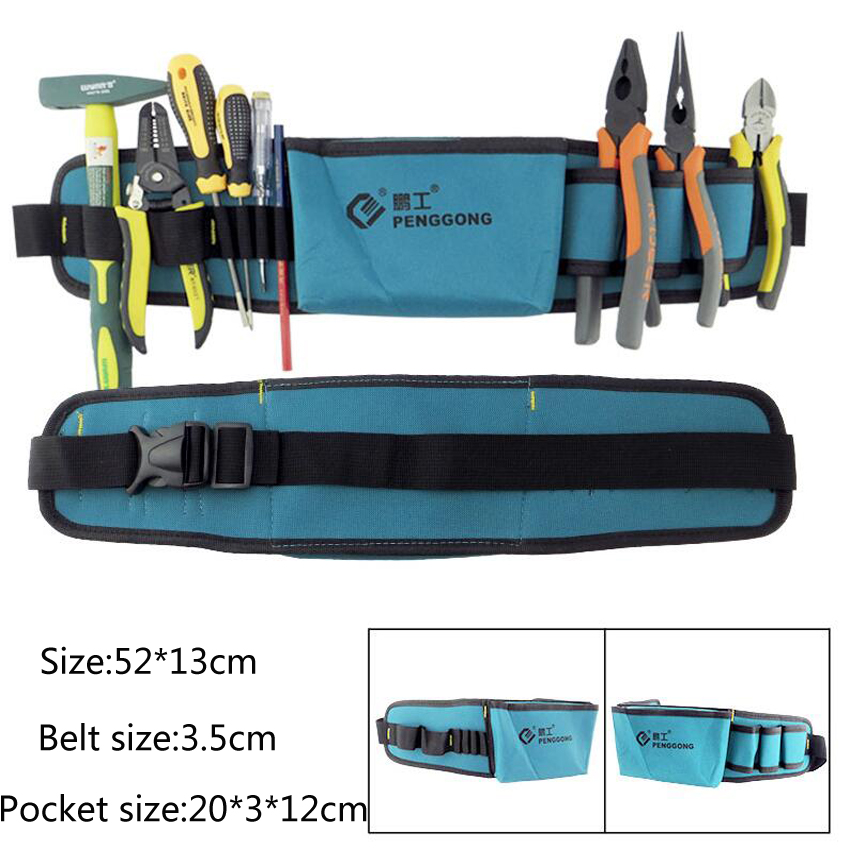 Hot Selling Electricians Tool Belt Repair Pouch Pocket Tool Waist Bag Multifunctional Waterproof Carpenter Oxford Cloth Tool Bag