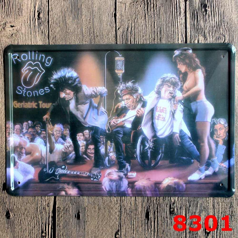 Rolling Stone Vintage Home Decor Tin Sign Musical Bar Pub Wall Decor Metal Sign Vintage Art Poster Retro Plaque Plate Home Decor Sign Plateplate Decorative Aliexpress