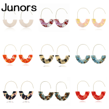 Leopard Print Multi-Color Drop Earrings for Women Girl Acrylic Acetic Acid Simple Geometric Pendant women earrings 2019