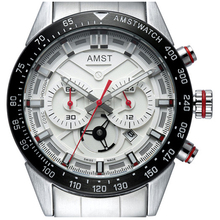 AMST Mens Watches Quartz Watch Men Luxury Waterproof Small Pointer Stainless Steel sport Wristwatches relogio masculino