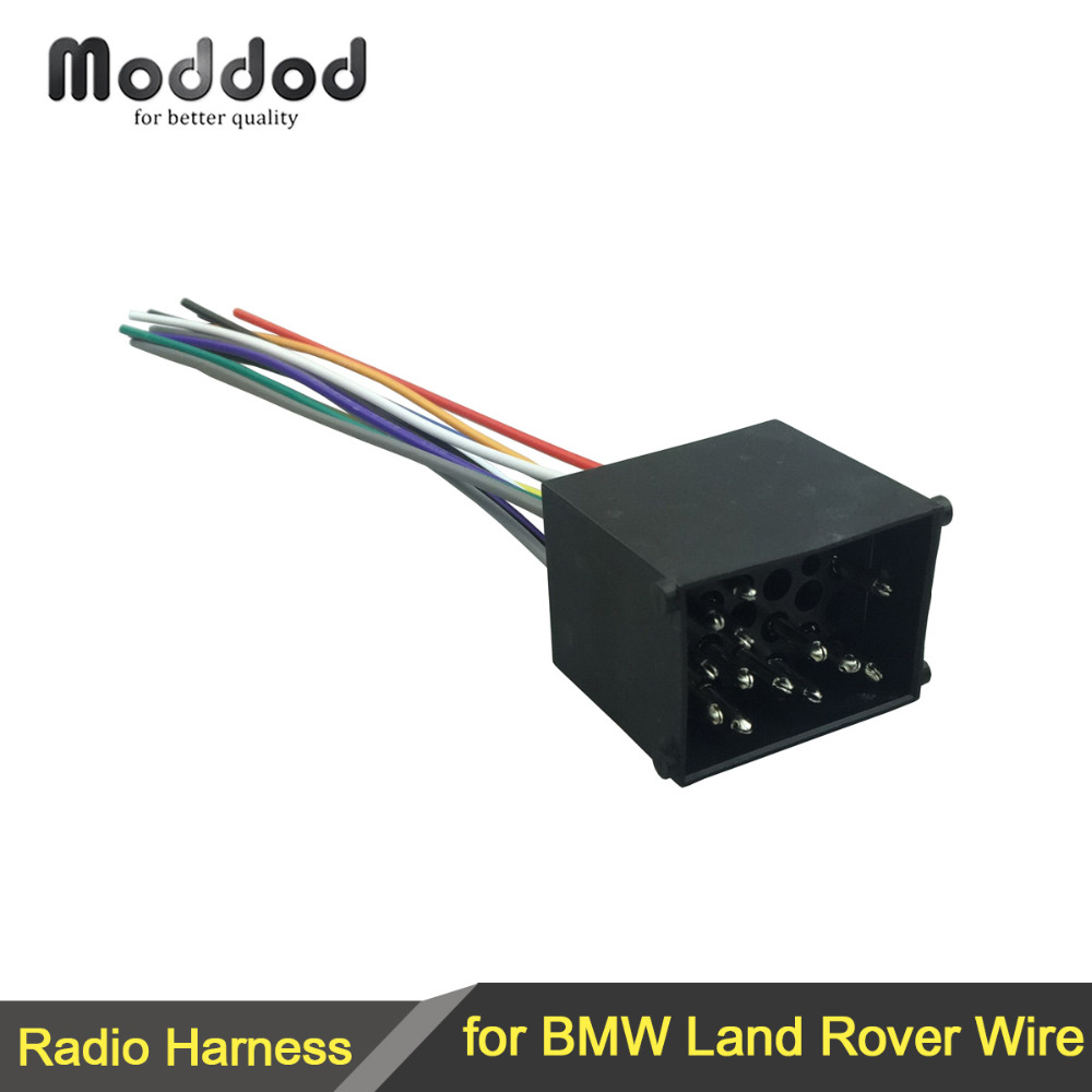 hight resolution of for bmw land rover wiring harness connector cable plug connecter radio wire adaptor