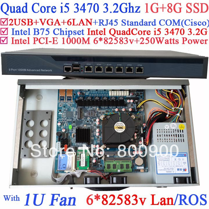 self-service shopping machine 1U with 6 Gigabit 82583v LAN Intel Quad Core i5 3470 3.2G Wayos PFSense ROS support 1G RAM 8G SSD fiscal end aluminum fanless embedded computer with i3 3217u 6com 4g ram onboard 2 intel lan support wake on lan dual 24bit lvds