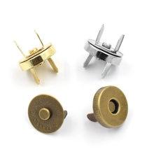 10 conjuntos de botão carteira 14 mm 18 mm sacos botões metal snaps fechos ambientais espessamento magnético fivela de adsorção automática