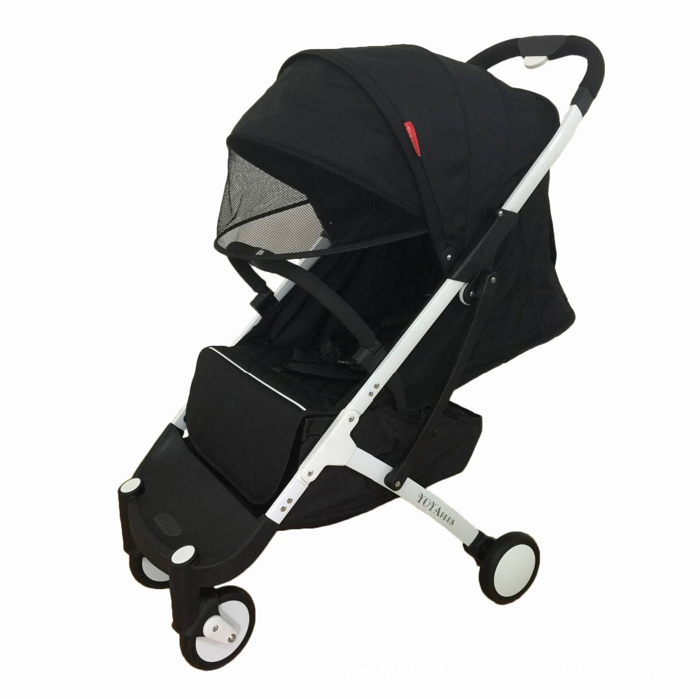 YOYA PLUS baby strollers ultra-lightweight folding can sit can lie high landscape baby trolley все цены