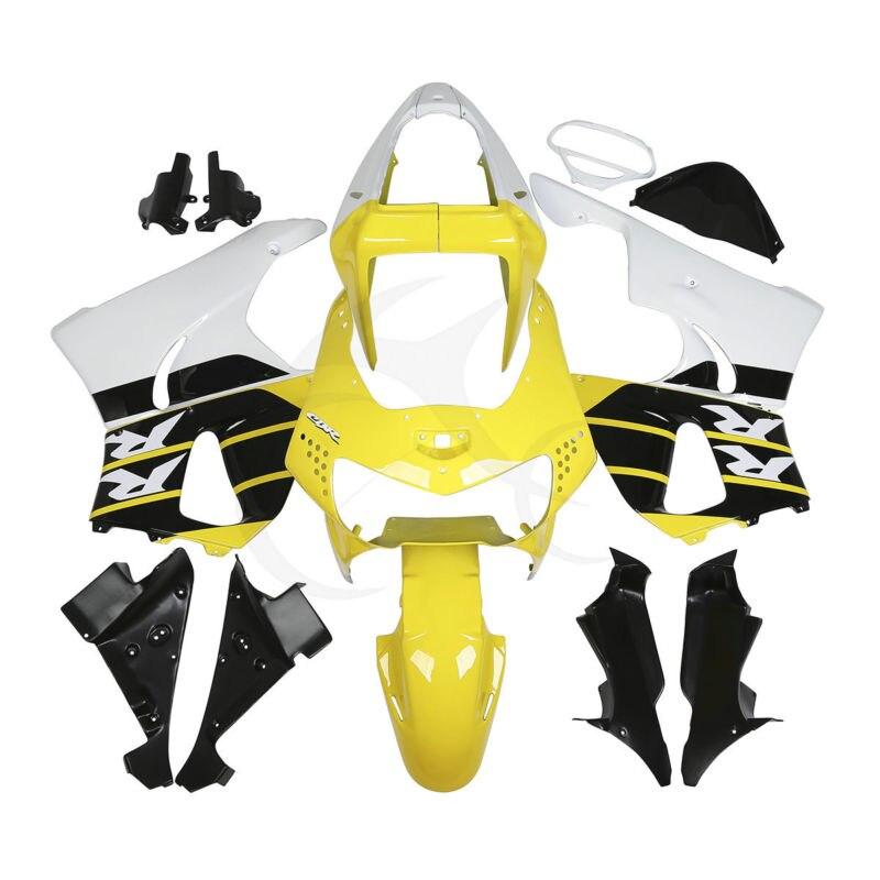 Yellow White Fairing Bodywork For Honda CBR900RR CBR919RR 900 919 1998 1999 2B hot sales sportbike fairing set kits for honda cbr900rr 98 99 919 cbr rr 900 1998 1999 orange and black motorcycle fairings