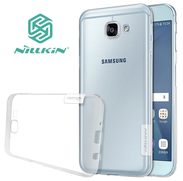 buy popular bf61a 7c144 US $4.99 |Nillkin Cover for Samsung Galaxy A8 2016 Case Transparent Soft  TPU Silicone + Dust Plug Cover for Galaxy A8 2016 Case Shield-in  Half-wrapped ...