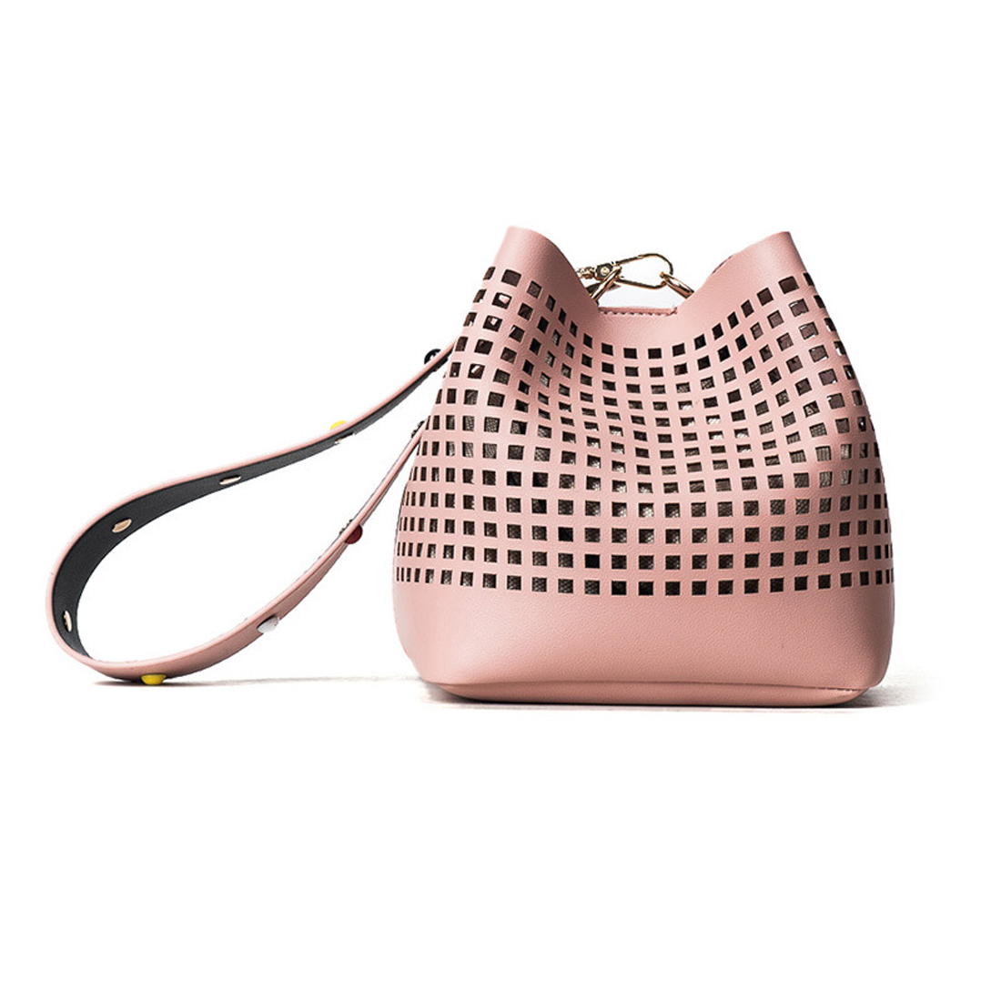 GZHOUSE Hollow Out Bucket Women Bag Summer Casual String Bolsa Feminina  Elegant Large Cross Body Bags Women OL Shooulder Bag-in Top-Handle Bags  from Luggage ... a7de123cbe9d2