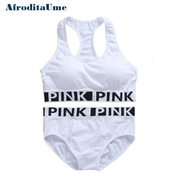 AfroditaUme Women White Underwear Comfortable Wireless Loungewear Lingerie Padded Bra Set vs Fitness Bras Sets