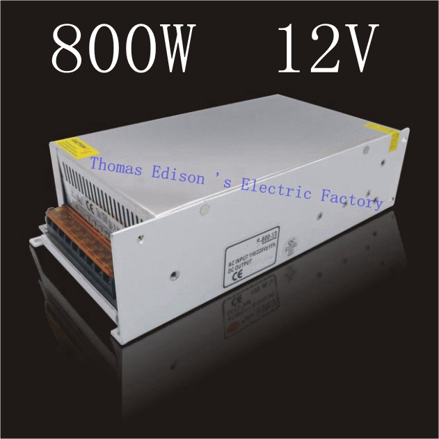 DMWD Switching Power Supply 800w 12v 66.5A  input AC110 or 220V For Strip Lamps voltage transformer dmwd switching power supply 40a power