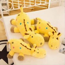 цена на Creative Lovely Giraffe Plush Toy Eiderdown Cotton Stuffed Toys Plush Doll Children Birthday Gift