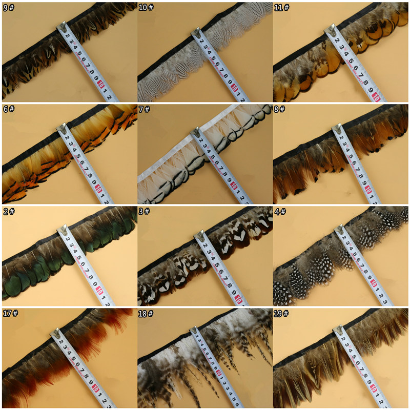 Wholesale 10 Meter Natural Pheasant Feathers Trims Fringe Ribbon Trim With Satin Ribbon Sewing Crafts Costumes Decorative Plumes