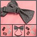 50 sets Metal hook bow tie cufflinks Hardware Necktie Hook tie Clips Fasteners to Make Adjustable Straps on Bow Tie buckles dips